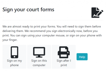 Sign your court forms